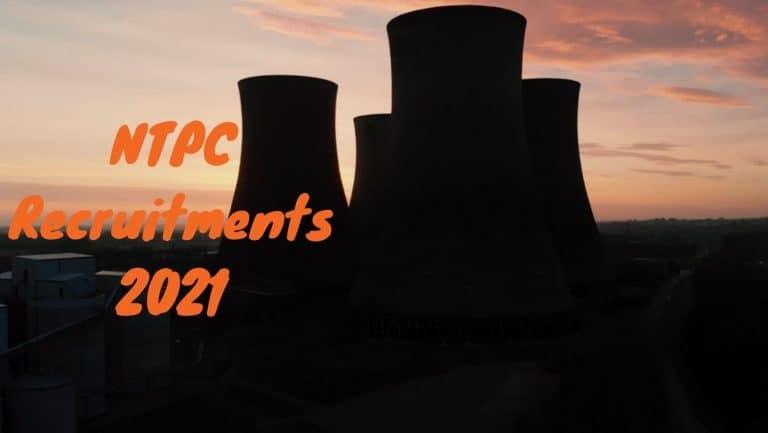 NTPC Recruitments 2021